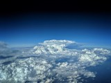 aerial view of a thunderstorm