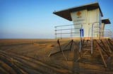 Lifeguard tower on beach - 230022026