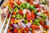 fresh vegetable salad with vegetables