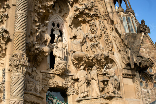 Sagrada Familia Church exterior details - 230052052