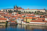 Old town of Prague and Prague castle, Czech Republic.