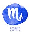 Scorpio hand drawn Zodiac sign