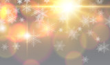 Christmas background with snowflakes, winter snow background, - 230065855