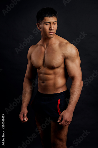 Asian guy abs