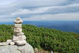 Pyramid of stones. The High Tatras, Slovakia