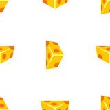 Cheese cartoon vector seamless pattern - 230077243