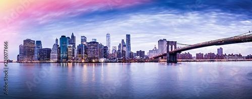 New York city sunset panorama  - 230077666