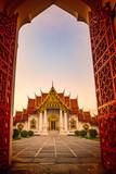Wat Benchamabophit ,marble temple one of bangkok thailand capital landmark - 230080097