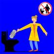 Leinwandbild Motiv No Sanitary Pad down the Toilet