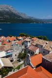 Korcula, a historic fortified town on the Adriatic island of Korcula in Croatia - 230086024