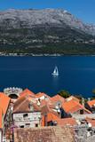 Korcula, a historic fortified town on the Adriatic island of Korcula in Croatia - 230086099