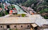 Dora River at Bard Village, Aosta Valley, Italy - 230120265