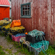 Colorful Lobster Fishing Gear on Prince Edward Island