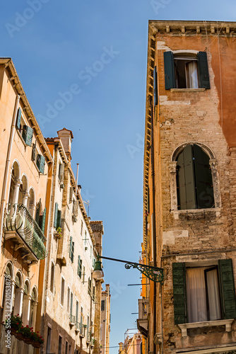 Old buildings in the city of Venice, Italy - 230153875