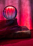 Still life with a crystal ball for fortune telling  - 230162261