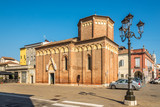 View at the church of Saint Martin in the streets of Chioggia in Italy
