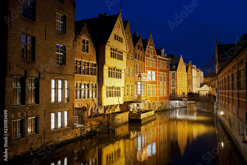 canal in ghent at night - 230183699