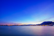 Leinwandbild Motiv sunset over in Zante town harbor, Zakinthos