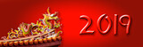 2019 chinese new year greeting card or banner with a dragon - 230210027