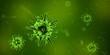Leinwanddruck Bild - Bactéries, virus et agents pathogène