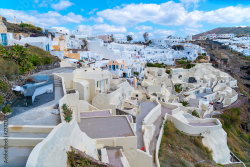 White architecture on Santorini island, Greece. - 230212018