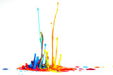 splash of color ink on white background - 230213238