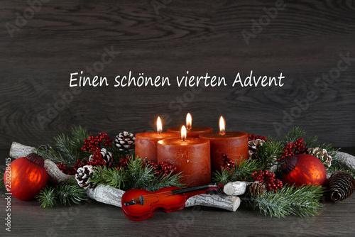 Leinwanddruck Bild Vierter Advent