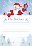 Layout letter from Santa Claus with inscription