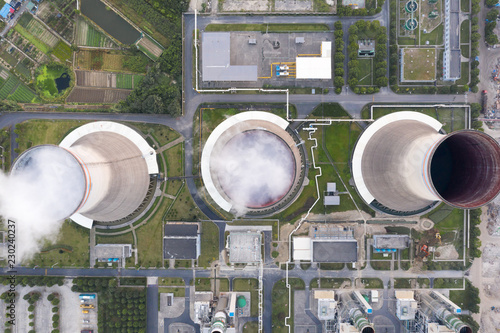 aerial view of power plant © zhu difeng