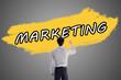 Word marketing written on a wall - 230244485