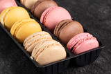 french multicolored macaroons close up - 230248866