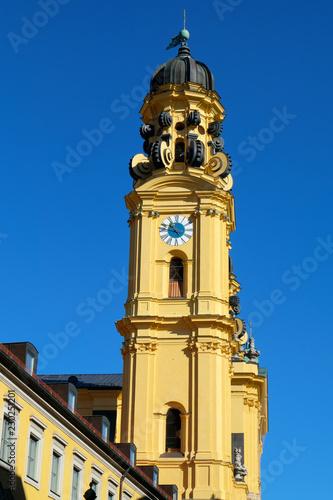 canvas print picture Kirchturm Theatinerkirche München