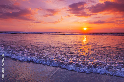 Radiant sea beach sunset - 230252445