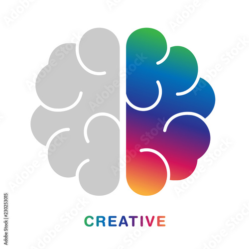 Creative concept with abstract brain