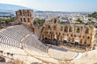 Leinwanddruck Bild - Panoramic view of the Odeon of Herodes Atticus at Acropolis of Athens from above, Greece