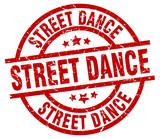 street dance round red grunge stamp - 230257403