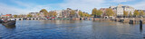 Panorama from the city Amsterdam with the Tiny bridge in the Netherlands