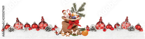 Leinwandbild Motiv Weihnachtliches mit Nikolaussack