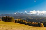 Rural Tatras mountains landscape, Poland