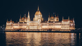 Hungarian parliament in Budapest with the Danube river - 230273095