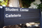 student center and cafeteria sign - 230274270