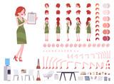 Female clerk character creation set - 230277670