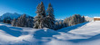 Leinwanddruck Bild - Winter in den Aelpen