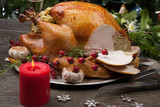 Carving Rustic Style Christmas Turkey - 230331422