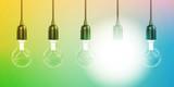 Glowing Light Bulb - 230340839
