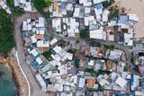 Aerial view of Shek O village, Hong Kong - 230347465