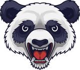 Angry panda head mascot - 230363296
