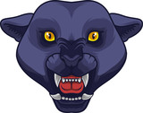 Angry black panther head mascot - 230363473