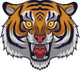 Angry tiger head mascot - 230363811