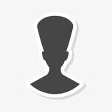 Egyptian silhouette sticker, Queen Nefertiti, Cleopatra silhouette